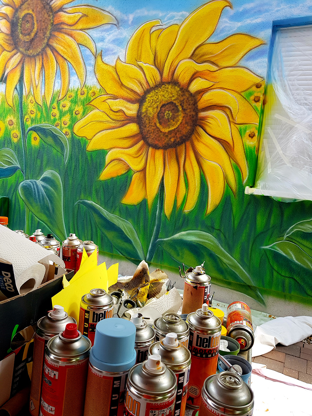Airbrush Wandgestaltung