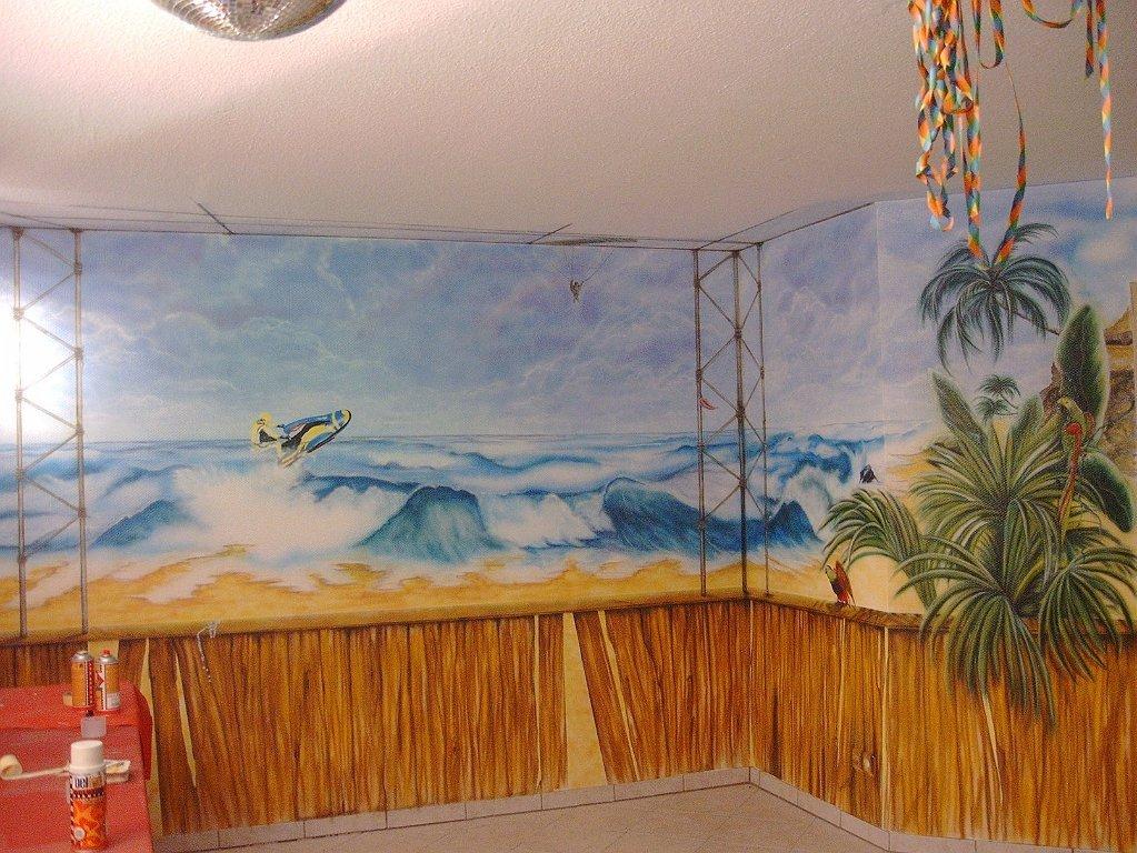 Fabulous Airbrush Wandgestaltung - Lizard Design Airbrush Art & Events TN49